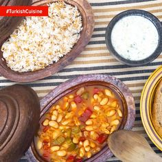 Kuru fasulye, a glorious stewed bean dish goes perfect with Turkish pilav and washed down with a garlicky cacık of fresh cucumber and yoghurt! #TurkishCuisine