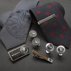 ff66dcfee817 Officially licensed Targaryen Ties, Targaryen Cufflinks, Tie Bars, and  Moneyclips! Game Of