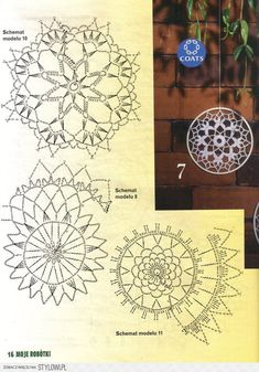 Best 11 Mini Trellis Doily pattern by Adrienne R. Crochet Dreamcatcher Pattern, Crochet Snowflake Pattern, Crochet Snowflakes, Crochet Patterns, Crochet Diy, Crochet Home, Filet Crochet, Motif Mandala Crochet, Crochet Doilies
