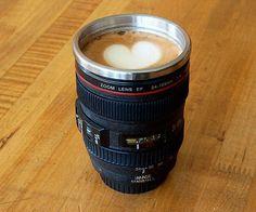 Photographer Camera Lens Insulated Coffee Mug or Thermos