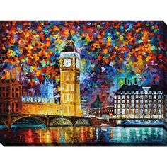 Leonid Afremov 'Big Ben, London' Giclee Print Canvas Wall Art