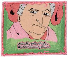 Martha Dandridge Custis Washington/Beaded Quilt/16 Inches x 19.5 Inches/2008 michaelaaronmcallister.com