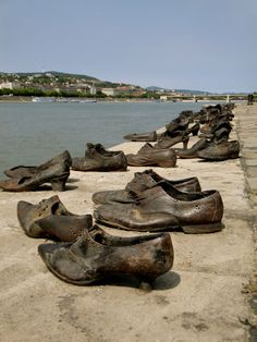 The Shoes on the Danube.  This is 50 pairs of bronzed shoes, a monument that commemorates the Jews who were killed by the Nazis puppet government - The Arrow Cross in 1944.  They were shot and their bodies fell into the Danube.   Another powerful memorial.