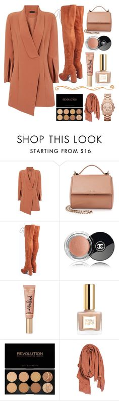 """""""🦀"""" by burcaak ❤ liked on Polyvore featuring Givenchy, Boohoo, Chanel, Too Faced Cosmetics, A Peace Treaty, MICHAEL Michael Kors, StreetStyle and boot"""