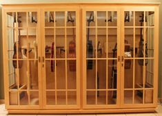 Guitar display case or cabinet that is Humidity controlled - Acoustic Saver