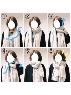 How to tie a pashmina - Vestidos bonitos - narbe Ways To Tie Scarves, How To Wear Scarves, Love Fashion, Autumn Fashion, Fashion Tips, Scarf Knots, Blanket Scarf, Scarf Styles, Fashion Accessories