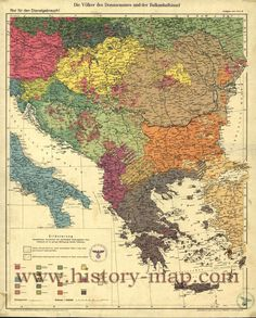 The peoples of the Danube basin and the Balkans, Berlin 1940 Old World Maps, Old Maps, Continents And Oceans, Map Globe, History Teachers, Vintage Maps, Historical Maps, Eastern Europe, Countries Of The World