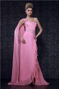 Beading Asymmetry One Shoulder Dashas Evening Pageant Dress