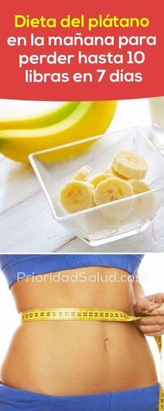 Dieta del platano para bajar 10 libras en solo 7 días. Descubre como rejabar sin ejercicio. #banana #dieta #perderpeso #bajarpeso #diet #dietplan #dietsforweightloss
