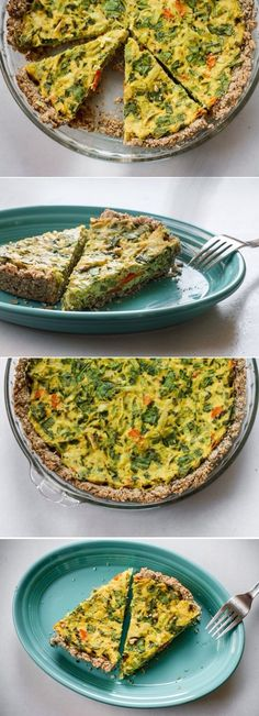Tofu Stuffing Quiche ( gluten-free, vegan) yields 3-4 entrée portions. #dairy_free #eggless #dinner