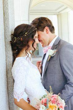 Modest Wedding Dresses by Alta Moda Bridal - Sleeves Perfect Wedding, Dream Wedding, Wedding Day, 1920s Wedding, Wedding Stuff, Lace Wedding, Wedding Wishes, Wedding Bells, Wedding Tips