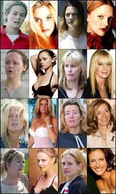Celebrities Before and After Makeups