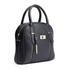 Tommy Hilfiger Florence Duffle Bag is crafted from pebbled leather with tape insets below the straps.