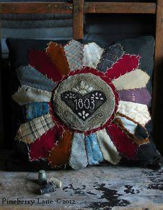 Earlywork-Pineberry Lane needlepunch pillow, i sooo want this....