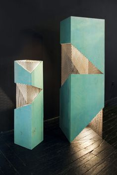 Standing Lamp by Rafael de Cardenas - All For Decoration Cool Lighting, Outdoor Lighting, Lighting Design, Display Design, Booth Design, Lamp Logo, Metal Industrial, Column Design, Displays