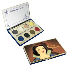Calling all Disney fans: the Besamé Cosmetics Snow White makeup collection launches soon Disney Princess Makeup, Disney Makeup, Eye Palette, Eyeshadow Palette, Snow White Makeup, Makeup Package, Snow White Disney, Makeup Pallets, Makeup Collection