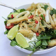 Katie Ball Cooks: Squid and Watercress Salad | Harper's Bazaar