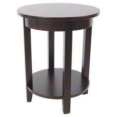 Cottage Round Accent Table Espresso - Alaterre : Target 24.000 inchesH x 19.000 inchesW x 19.000 inchesD