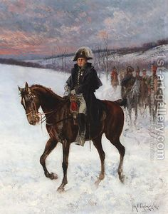 Jan van Chelminski:Marshal Ney on horseback; Campaign in Russia