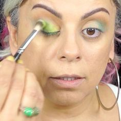 I filmed this makeup look back in 2017! It was originally inspired by August birthstone peridot. Does anyone remember that old NYX palette? The colors and quality was so good. I still have it. #makeuplover #eyeshadowmakeup #makeupideas #makeuplooks #eyeshadowlooks #eyeshadowtutorial #grayhair