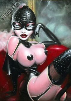Original Fetish Paintings by Gernot in Acrylic and Oils - Bizarre Gallery Official