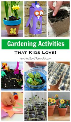 Gardening Ideas for Kids - Teaching 2 and 3 Year Olds