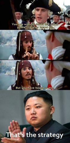 Kim Jong understands Sparrows strategy