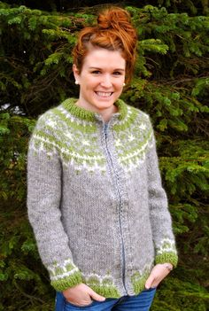 Bragi Icelandic Sweater with Zipper/Buttons - Handmade with 100% Icelandic Wool. $159.00, via Etsy.