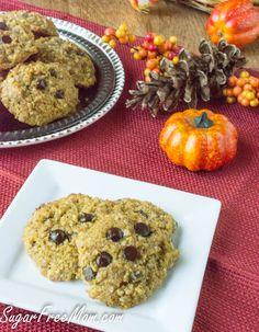 Sugar Free Pumpkin N'Oatmeal Cookies {Grain Free, Low Carb} Low Carb Sweets, Low Carb Desserts, Low Carb Recipes, Diabetic Recipes, Diabetic Desserts, Healthy Desserts, Healthy Food, Dessert Recipes, Healthy Eating