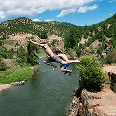 cliff jumping / Colorado River Rafting Kremmling, CO