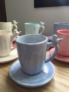 Geometric Holland Park Porcelain Mugs Set Of 2 And