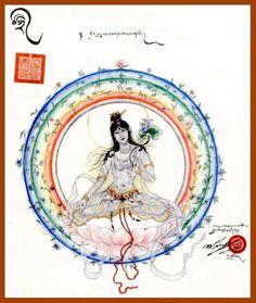 desenho de 17 Karmapa de tara branca