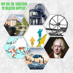 jivespin | Why did the Industrial Revolution happen visual hexagon resource