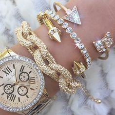 Find the pave chunky link statement bracelet and more arm candy at PearlsAndRocks.com For a limited time get 20% off with code PIN20