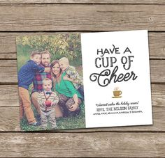 Photo Christmas Card : Have A Cup of Cheer Custom by deanworks
