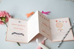 Oh So Beautiful Paper: Lesley + Chad's Accordion Save the Dates