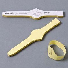 Wrist Watch Post It Notes …  Great idea!