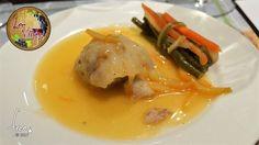 Popieta de lubina con gambas a la salsa de naranja Su sabor te encantará! ;-)