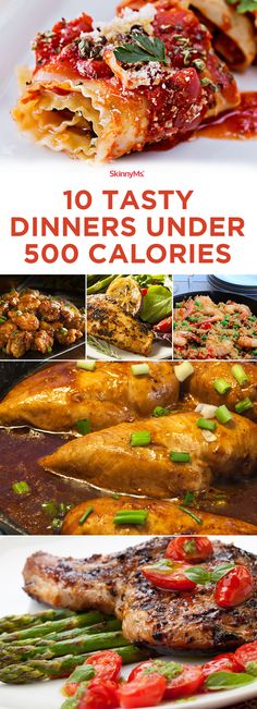 Made with wholesome ingredients, each of these dinners includes lean protein, filling veggies, and healthy fats. The dinners combine nutritional ingredients to make sure you're getting a well-rounded, balanced meal without overdoing the calories and without going hungry. #dinner #healthyrecipes #lowcaloriedinners #skinnyms