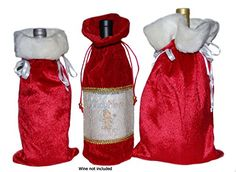 Christmas Holiday Wine Liquor Bags Holds Small Gifts Variety Pack 3 different bags CentiMom * Be sure to check out this awesome product.