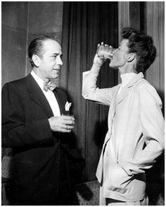 Bogart and Hepburn