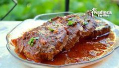 Soslu Et Tarifi Iftar, Turkish Recipes, Meatloaf, Meat Recipes, Steak, Pork, Food And Drink, Cooking, Foods