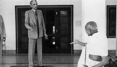 Mahatma Gandhi and Jinnah in a conversation - 1939