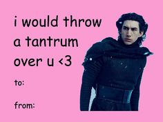 Kylo Ren is just so emotional! Don't you just love it?