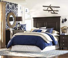 A nautical bedroom. Boys Nautical Bedroom, Boys Bedroom Decor, Bedroom Ideas, Blue Bedroom, Bedroom Colors, Big Boy Bedrooms, Coastal Bedrooms, Coastal Living, New Room