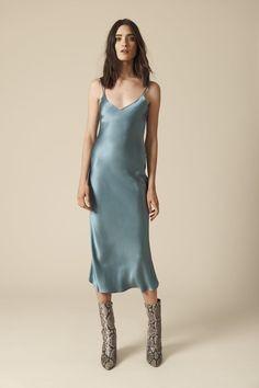 "Sablyn ""Taylor"" silk slip dress SILK V neckline Adjustable straps Body-skimming silhouette. Ice Dresses, Satin Dresses, Club Dresses, Casual Dresses, Prom Dresses, Slip Dress Outfit, Summer Dress Outfits, Red Silk Dress, Silk Slip"