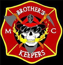 #BKMC #Heart Emblem for- Brother's Keepers Motorcycle Club. Comprised of all Firefighters (career, volunteer, active or retired) For fun & fellowship- graciously rallies to benefit local charities often burn units.