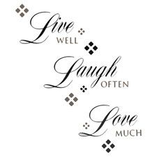 """""""Live Laugh Love"""" 22 Piece Wall Decal Set"""
