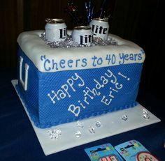 The Buttercream Bakery 40th Birthday Cake Birthday Pinterest