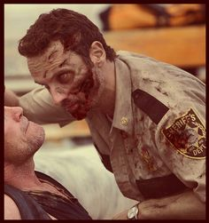 The Walking Dead -- Zombie Rick<---- is this for real?!??! This is not ok!!